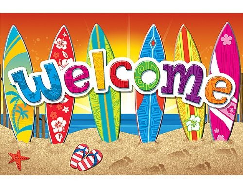 Teacher Created Resources Surf's Up Welcome Postcard (5363)