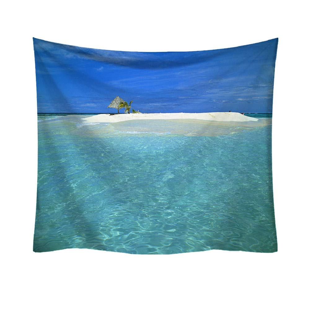 AKwell Wall Tapestry Blue Ocean Wave Tapestry Sea Wall Hanging Tapestry, Fresh Style Landscape Decorative Tapestry Home Decor Tablecloth