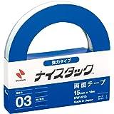 NICHIBAN NICETACK powerful type double-sided tape 15mm x 18M NW-K15 (japan import)