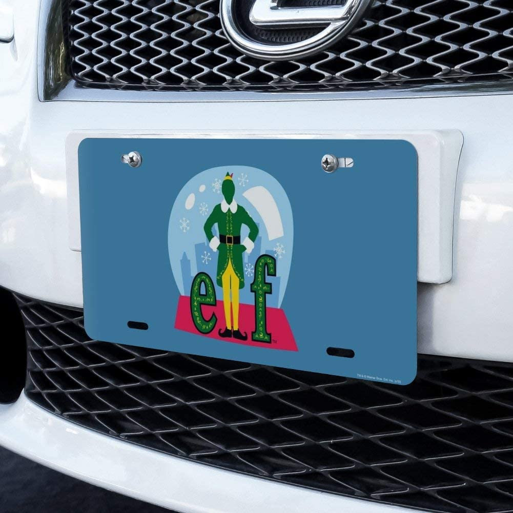 Graphics and More Elf Snow Globed Novelty Metal Vanity Tag License Plate
