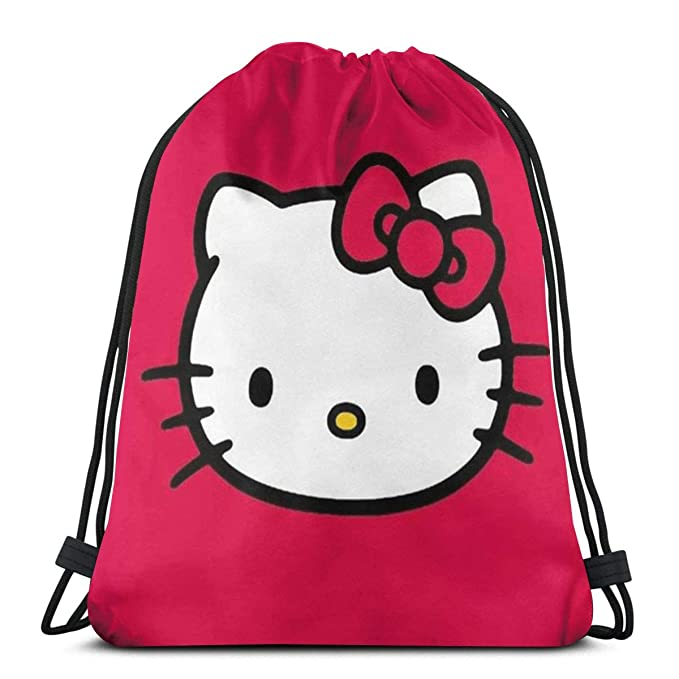 Amazon.com  MPJTJGWZ Classic Drawstring Bag-Red Hello Kitty Gym Backpack  Shoulder Bags Sport Storage Bag for Man Women  Home   Kitchen 5d63249a73fb9