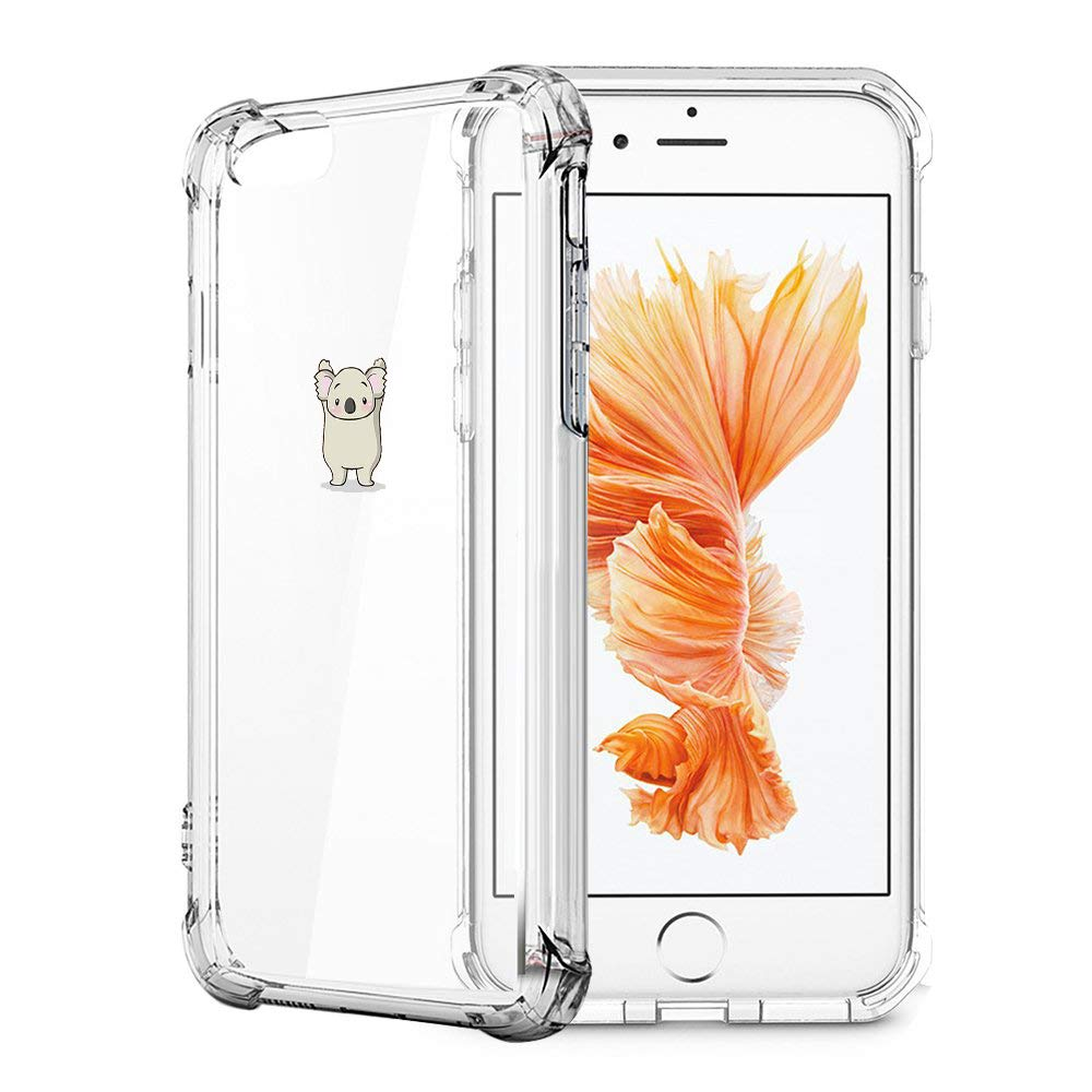 Alsoar Compatible//Replacement pour Coque Transparent iPhone 7,iPhone 8 Ultra Mince TPU Silicone Souple Housse Fine Mignon Motif Dessin Bumper Anti-Scratch Protection Etui Case Cover