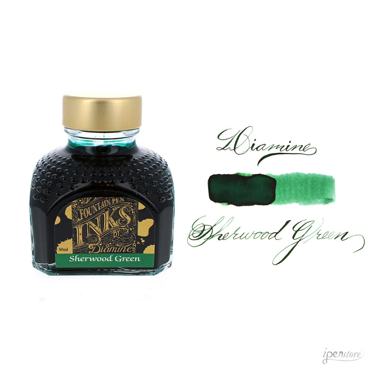 Diamine 80ml Sherwood Green fountain pen ink bottle
