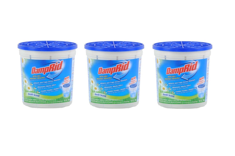 DampRid Moisture Absorber,10.5oz, Fresh Scent (3 pack) by DAMPRID B00EUB4NQM