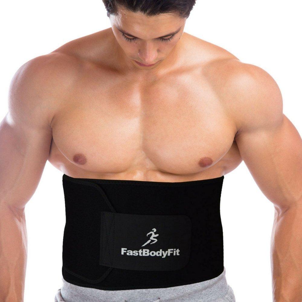 FastBodyFit Bauchweg-Gürtel für Männer und Frauen: Strafft die Bauchregion und fördert das Abnehmen. + 6 Extras