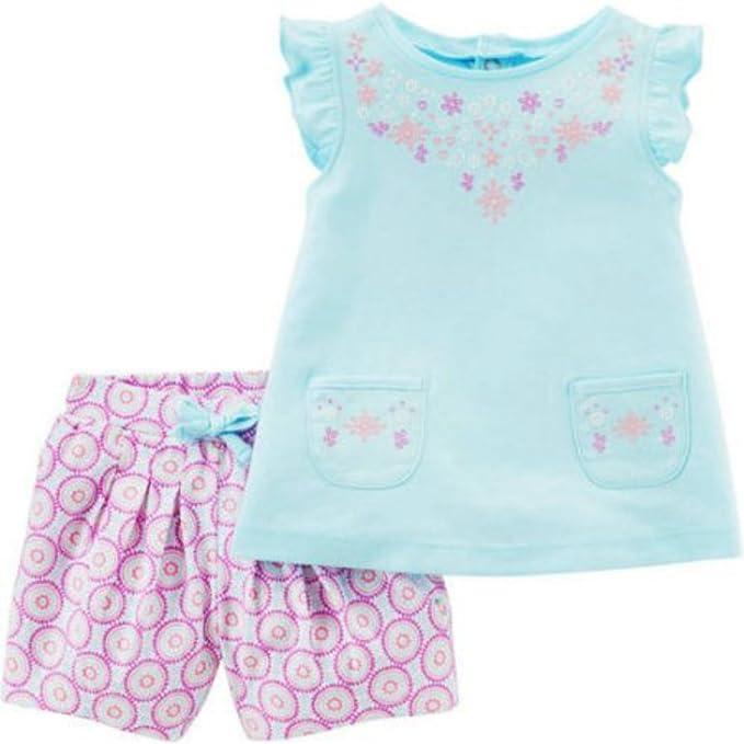 Amazon Com Carters Newborn Baby Girl Flower Sleeveless Shirt With