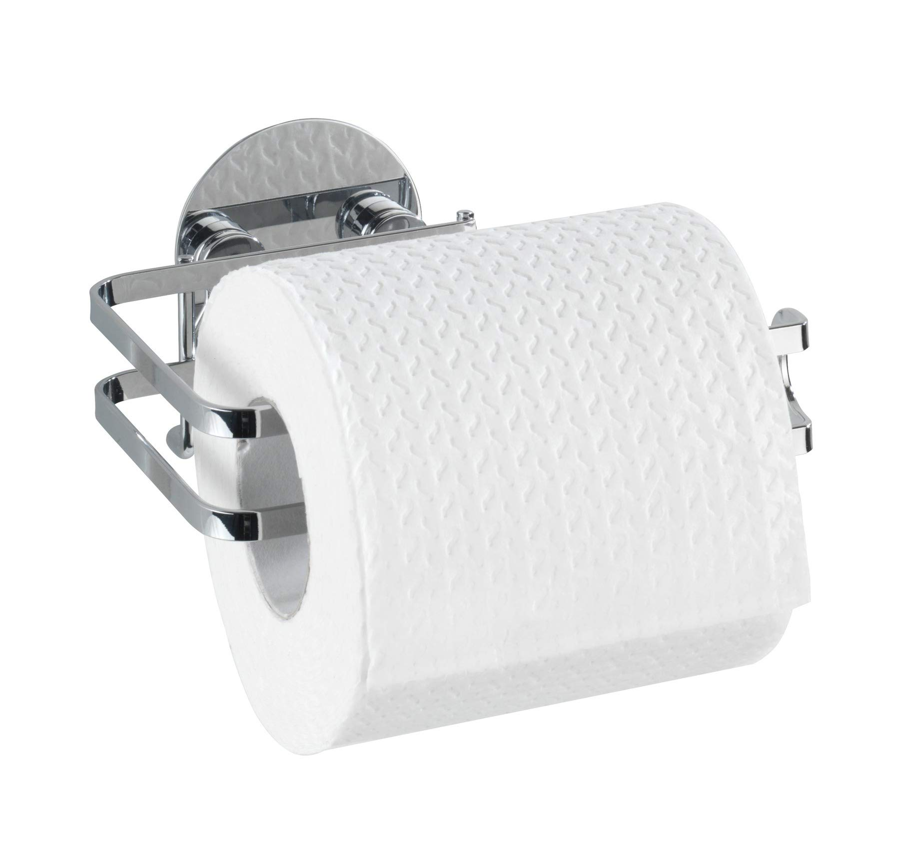 Wenko 21780100 Turbo-Loc Stainless Steel Toilet Paper Holder, 5.3 x 2.8 x 4.3 inch, Shiny by Wenko