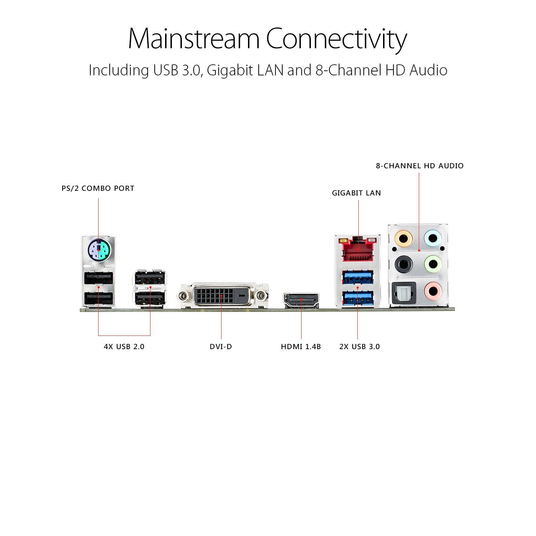ASUS ROG Strix B250H Gaming LGA1151 DDR4 HDMI DVI M.2 ATX Motherboard with USB 3.1