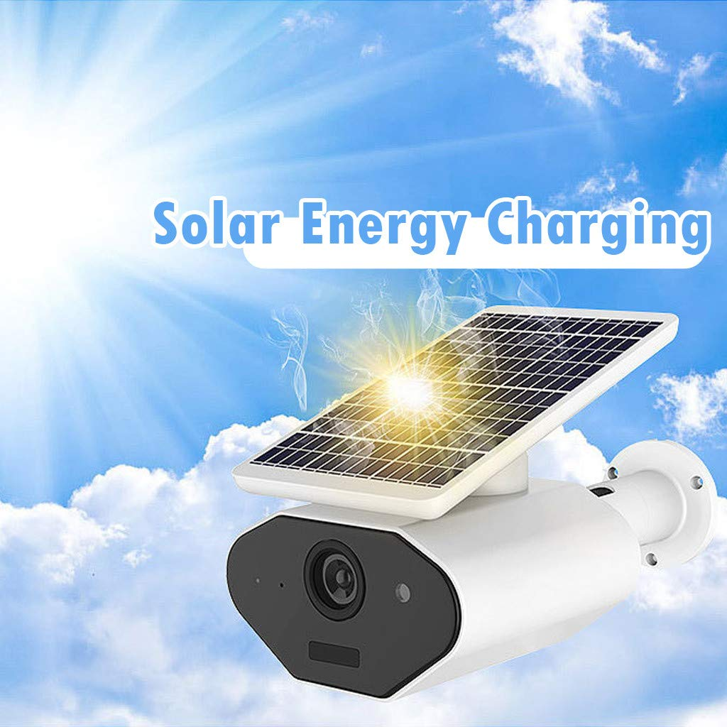 Nesee Wireless Rechargeable Battery-Powered Solar Security Camera for Outdoor Home Surveillance, 1080p HD Two-Way Audio Starlight Night Vision with PIR Motion Sensor SD Card Slot by Nesee