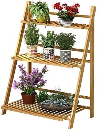 AILIWEI Marco Bonsai, Soporte de exhibición de Plantas de bambú para jardín Interior y Exterior, Estante para macetas, Soporte de Flores (Tamaño : 70 * 96cm): Amazon.es: Hogar