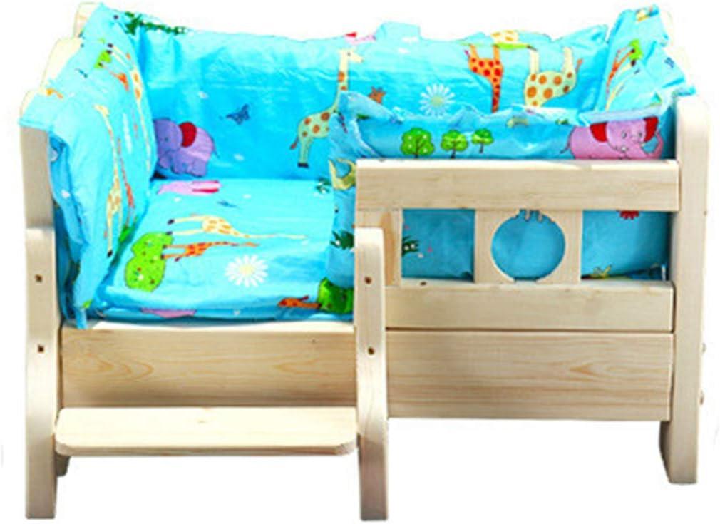 FENGHUANG Boutique de Perros de Madera Maciza Perro Cama cómoda colchón Interior pequeño y Mediano Cuatro Estaciones Universal,2,XL: Amazon.es: Hogar