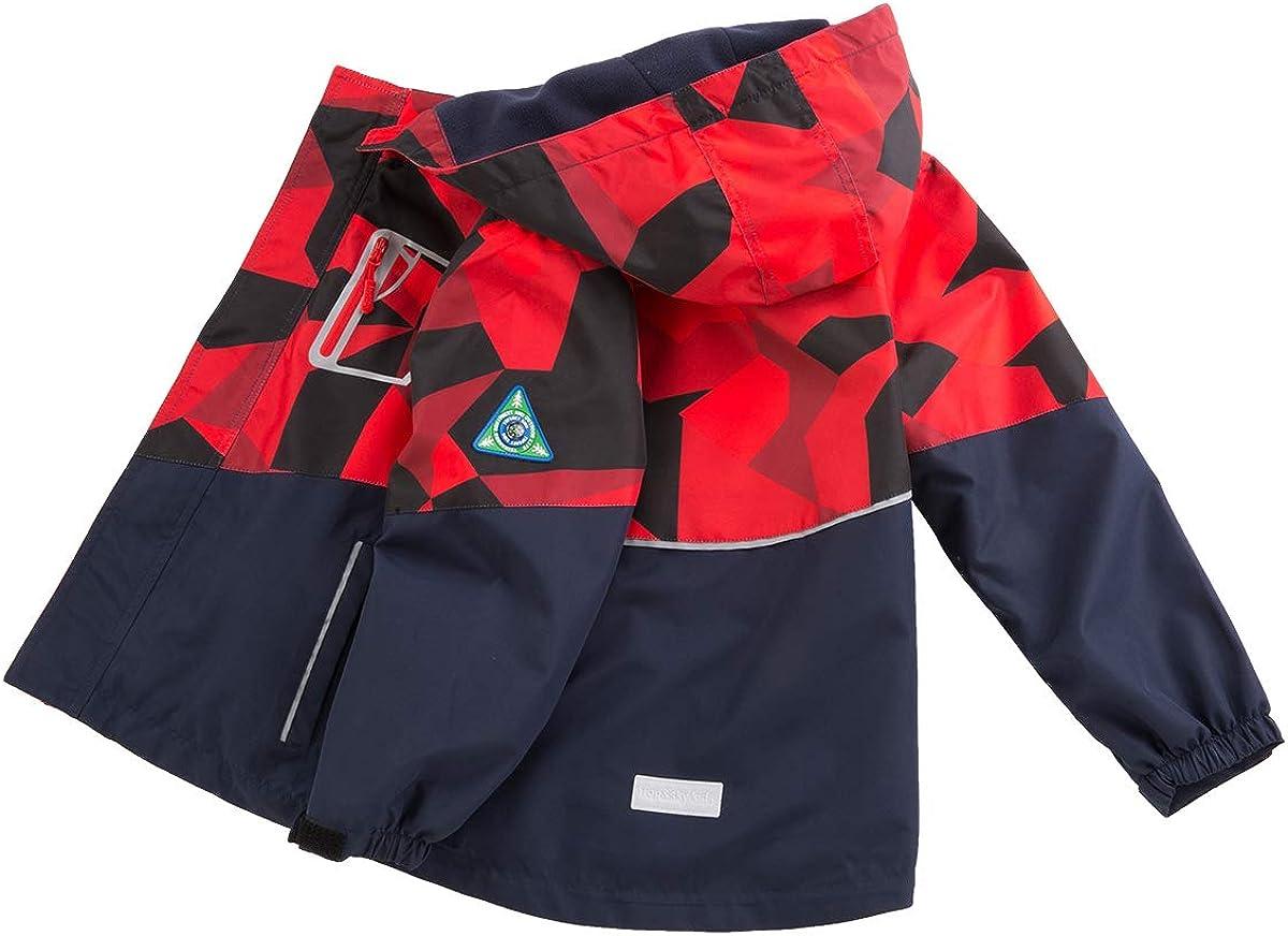 LAUSONS Kids Fleece Lined Raincoat Camo Waterproof Jackets