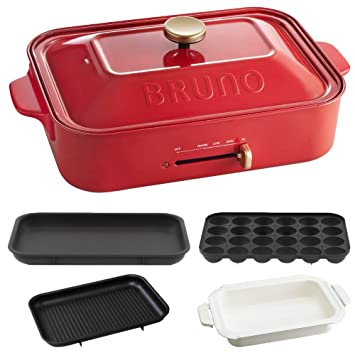 Amazoncom BRUNO Compact Hot Plate Takoyaki Plate Ceramic - Compact grill containers