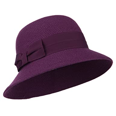 31951824351 Women s Wool Felt Bucket Shape Hat - Purple OSFM at Amazon Women s ...