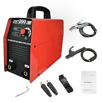 Soldador de arco 110V 200Amp Máquina de soldadura IGBT inversor AC-DC mini soldadores eléctricos