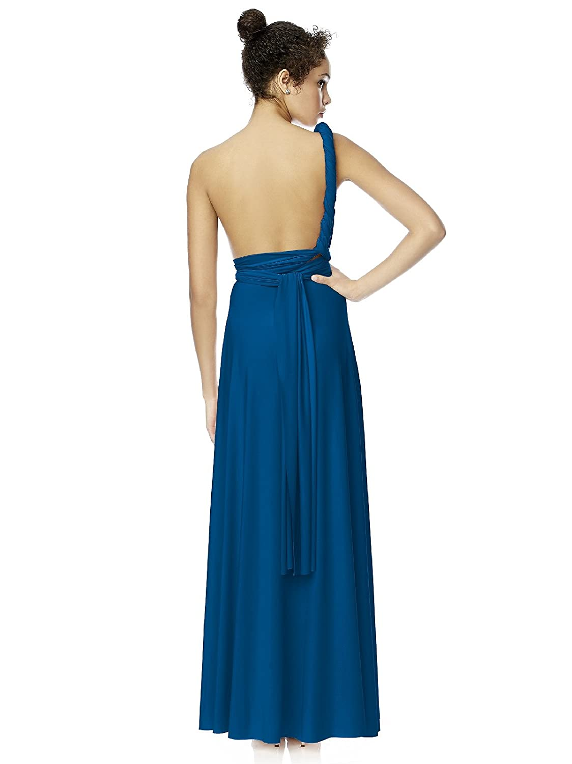 Womens full length matte jersey convertible twist dress by dessy womens full length matte jersey convertible twist dress by dessy at amazon womens clothing store wedding dress for bridesmaids ombrellifo Choice Image