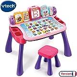 VTech Magi 4 合 1 互动式四合一书桌,195855 功能,粉色