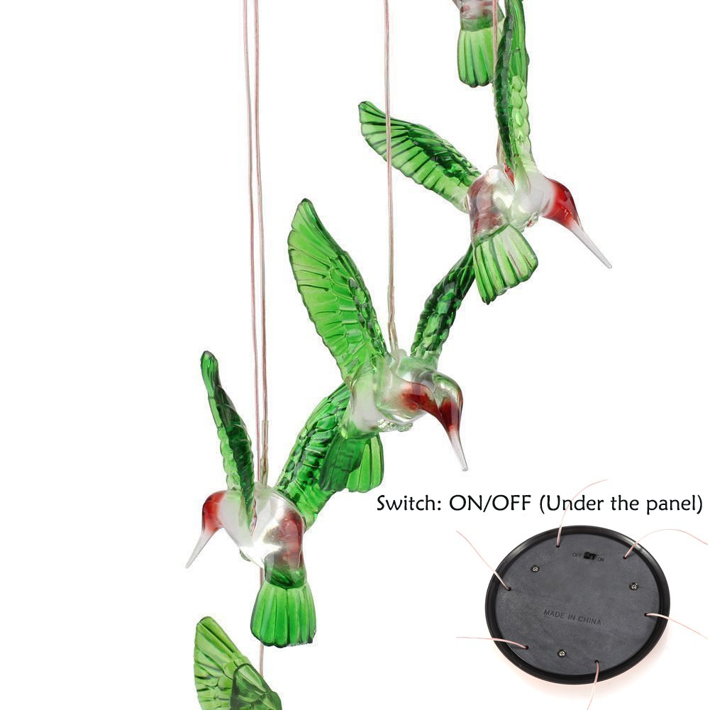 Amazon.com : LED Solar Mobile Wind Chime, Color-Changing Solar ...