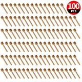 honey jar favors - 100 Pack of Mini 3 Inch Wood Honey Dipper Sticks, Individually Wrapped, Server for Honey Jar Dispense Drizzle Honey, Wedding Party Favors