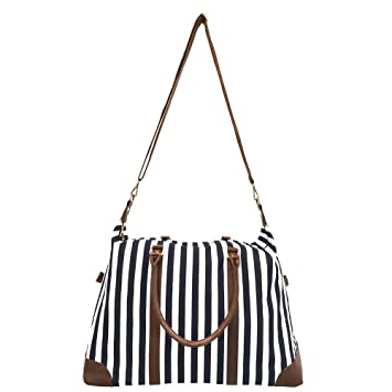 Amazoncom Limited Time Sale Womens Striped Weekender Bag