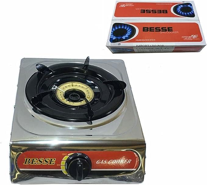 Fuego de cocina, Hornillo, butano, 1 quemadores: Amazon.es ...