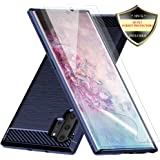 Galaxy Note 10 Plus Case with Screen Protector,Dahkoiz Shock Absorption Galaxy Note 10 Plus 5G Case Slim TPU Bumper Cover Lightweight Protective Phone Case for Samsung Galaxy Note10 Plus/5G/Pro,Blue