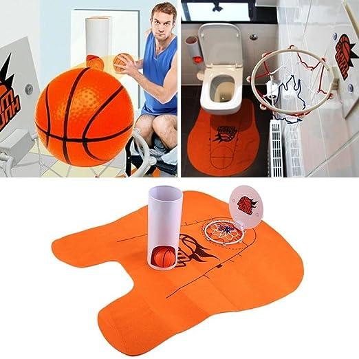 Desconocido Naranja: 1set Slam Dunk Baloncesto para el baño ...
