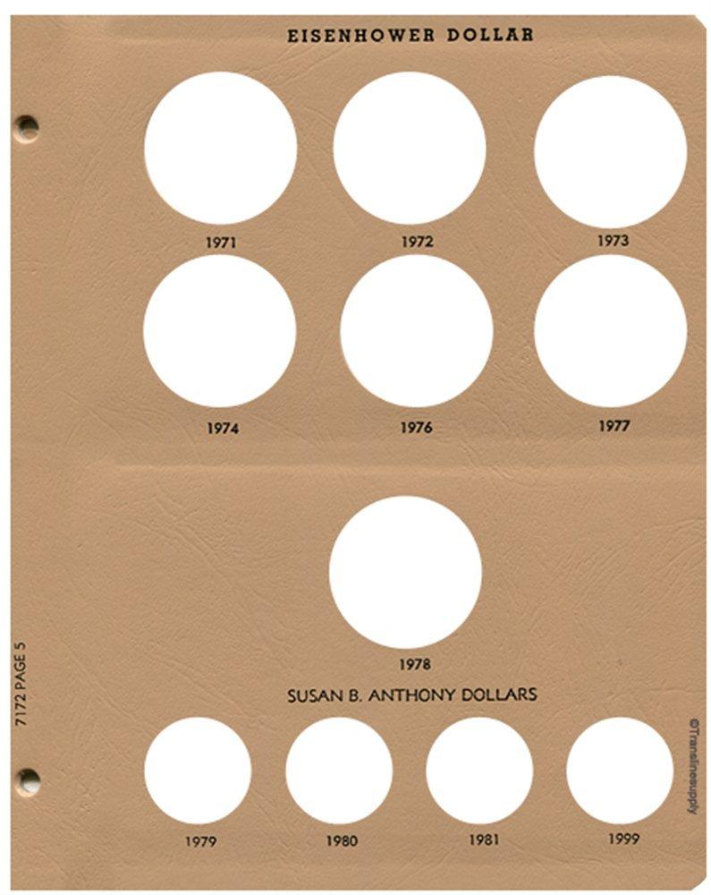 Morgan, Peace, Eisenhower, Anthony Date Set Coin Album 1878-1999 #7172 Dansco US Dollar
