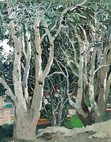 Oil Painting 'Wu Guanzhong, White Bark Pine, 1972' Printing On Perfect Effect Canvas , 8x10 Inch / 20x26 Cm ,the Best Basement Artwork And Home Decoration And Gifts Is This Cheap But High Quality Art Decorative Art Decorative Canvas Prints