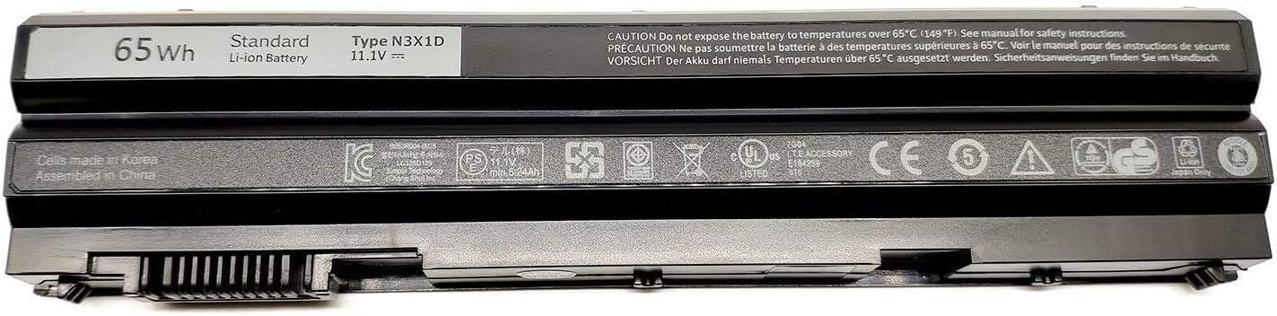 Binger New N3X1D Replacement Laptop Battery Compatible with Dell Latitude E6540 E6440 E5530 E5430 E6520 E6420 Precision M2800 (11.1V 6 Cell 65Wh)