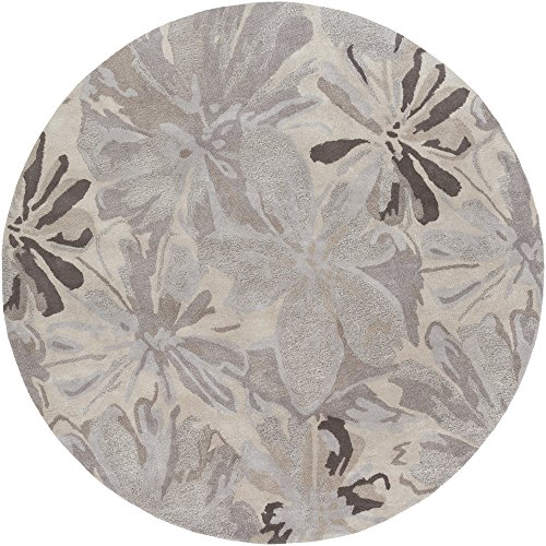 Surya ATH-5135 Hand Tufted Floral and Paisley Area Rug, 8-Feet Round