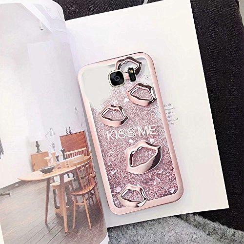 del Sandía Funda S7 S7 Galaxy Pintura del QianYang Carcasa Suave 3 Color para Galaxy TPU Caramelo Labios Protector Fundas Samsung 4wSXxqw