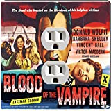 Rikki Knight 3703 Outlet Vintage Movie Posters Art Blood of Vampire 3 Design Outlet Plate