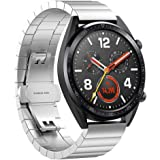 Smart Watchband Stainless Steel Bracelet Quick Replacement Watch Band Strap For Huawei Watch GT Silver