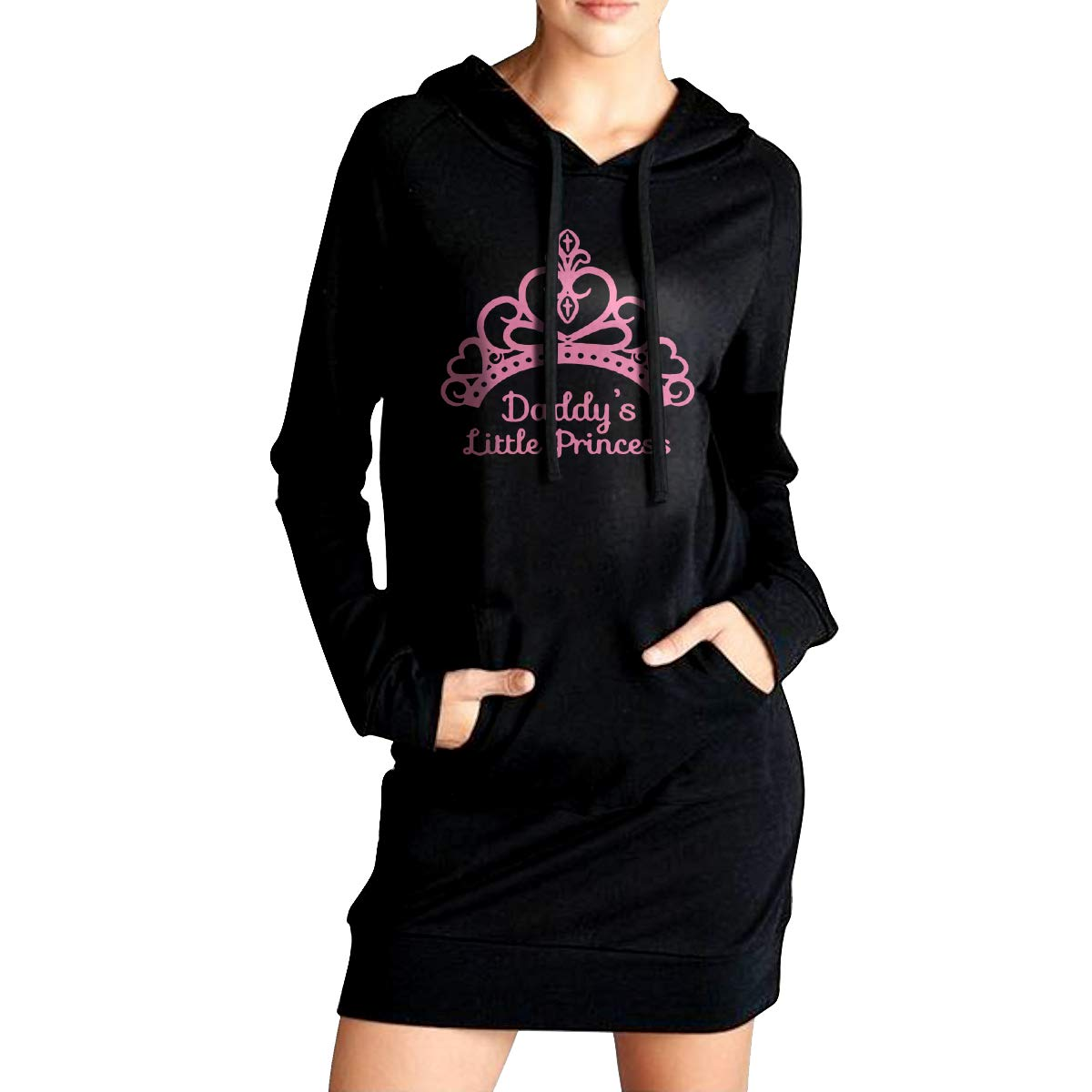 TDYUS DesignName Womens Warmth Black Fleeces With Pocket