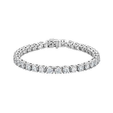 Amazon Com Nana Silver Swarovski Cz Tennis Bracelet 7 3 0mm 5 2