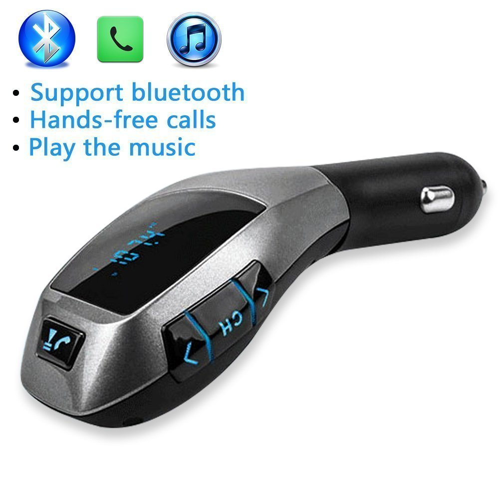 自動ワイヤレスBluetooth BMW X5 音楽プレーヤー FM LCDスクリーン ラジオアダプター USB充電器   B01M3XM0Z4