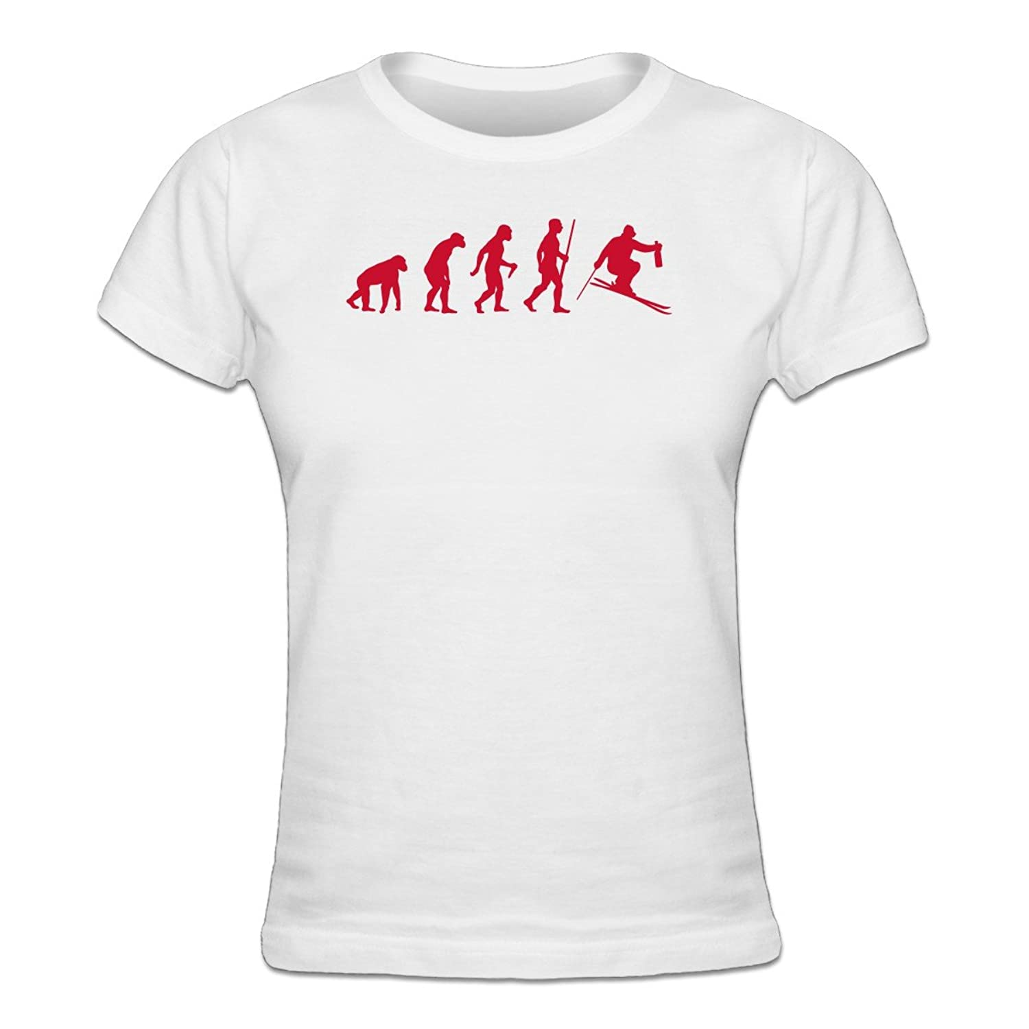 Après Ski Evolution Frauen T-Shirt by Shirtcity