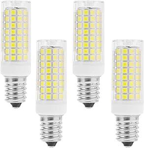 LXcom 10W E12 LED Corn Light Bulb(4 Pack)- 2835 SMD 102LEDs E12 Dimmable 100 Watt Equivalent Bulb 1000LM Daylight White 6000K Chandelier Bulbs Decorative Candle E12 Base for Home Lighting, AC110-120V
