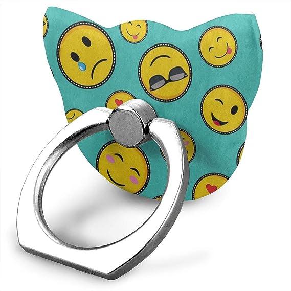 Amazon com: Ring Holder Vibrant Color Emoji Smiley Face Cat