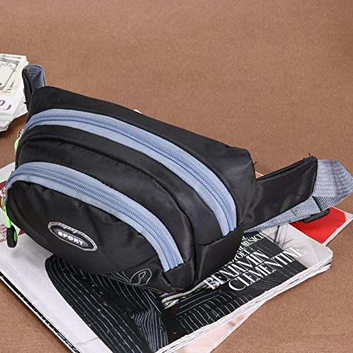 Wallet Pack Men Crossbody Widewing Bags Korean Chest Travel Bag Black Women Waist Belt HxzznOX5w