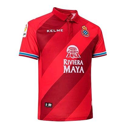 KELME RCD Espanyol Segunda Equipación 2018-2019, Camiseta, Rojo, Talla XXL