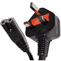 pro elec 5 m UK 3 Pin Cord IEC C7 Figure 8 Mains Power Charger Cable - Black