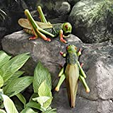 Design Toscano Ricochet The Grasshopper Statue (Set of 2) For Sale