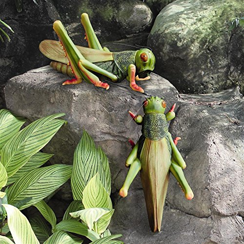 Design Toscano Ricochet The Grasshopper Statue (Set of 2)