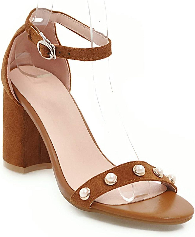 Women Sandals Ankle Strap Shoes Open Toe Chunky High Heels Sandals Party Dress Wedding Shoes Woman Plus Big Size 45,Black,11