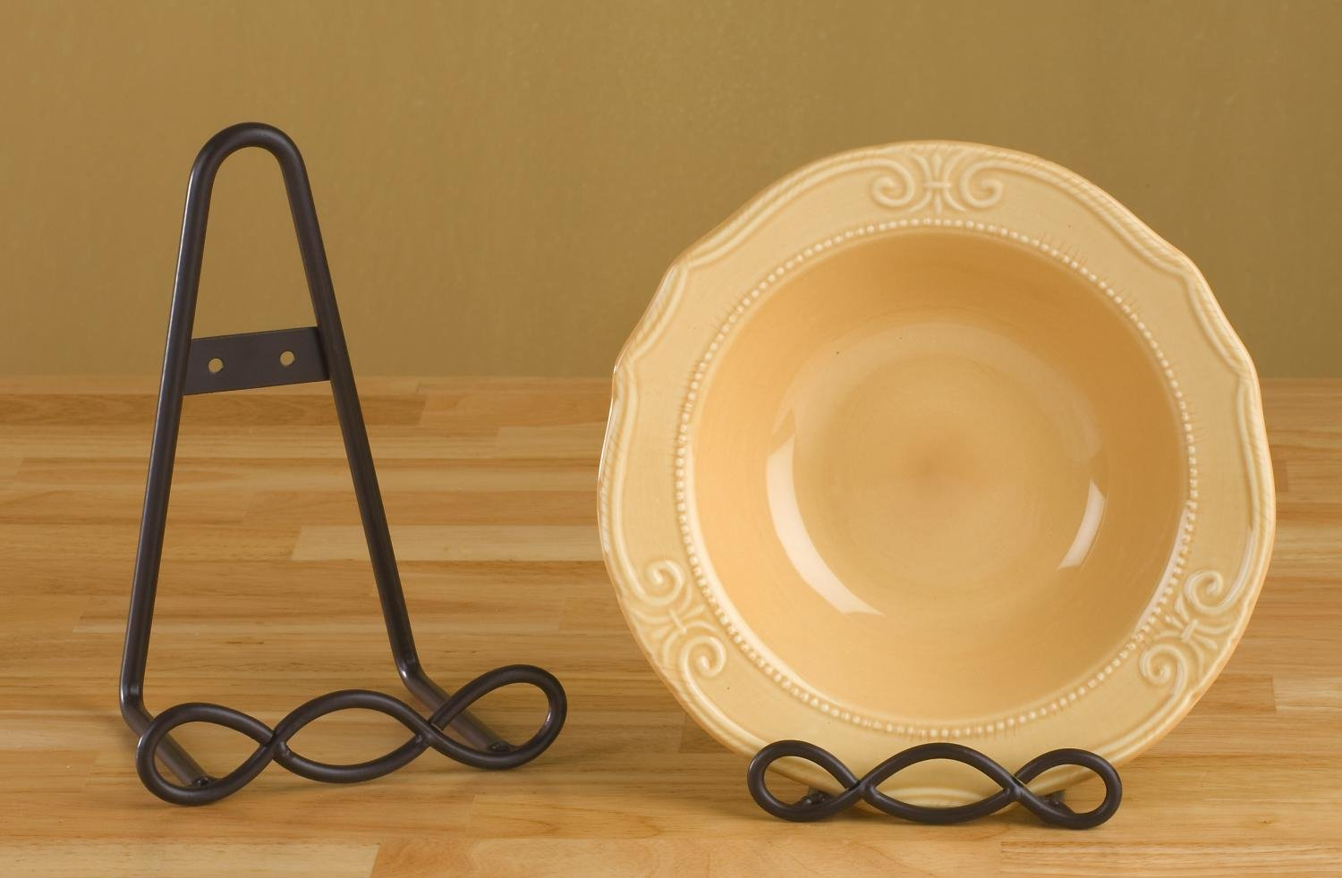 Loop Design Black Wall / Table Top Stand by Book Stands