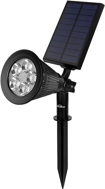 Kealive Lámpara Solar, LED Solar Spotlight, Solar Exterior Foco Led, Para Jardin Seguridad Calzada y Terraza 2 Piezas: Amazon.es: Iluminación