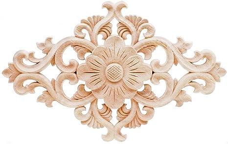 European Style Woodcarving Decals Door Window Mirrors Decorative Pieces 1//4pcs