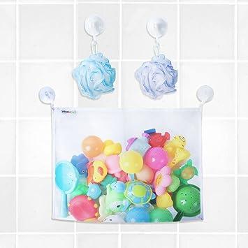 Adhesive Hooks-bath Toy Organizer Mesh Net Bag,bath Toys Bathroom Storage Suction Hooks Sturdy Construction Good Bath Toy Organizer Suction Cup Hooks